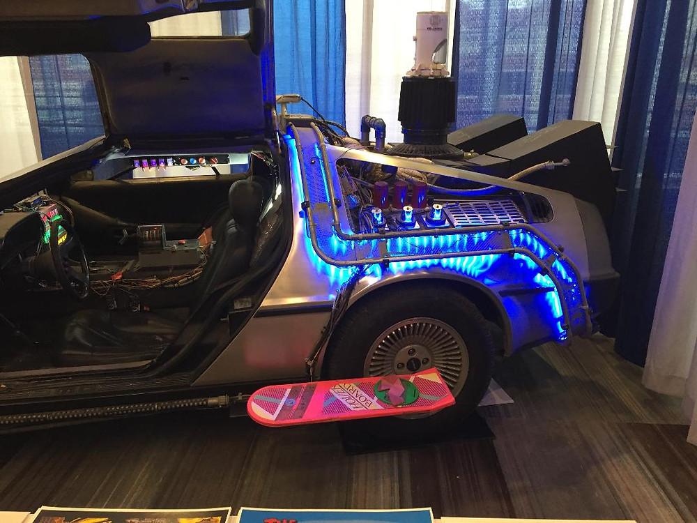 Back to the Future DeLorean and Hover Board