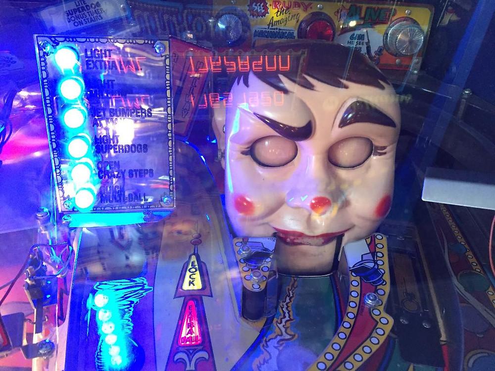 William's Fun House pinball Rudy.