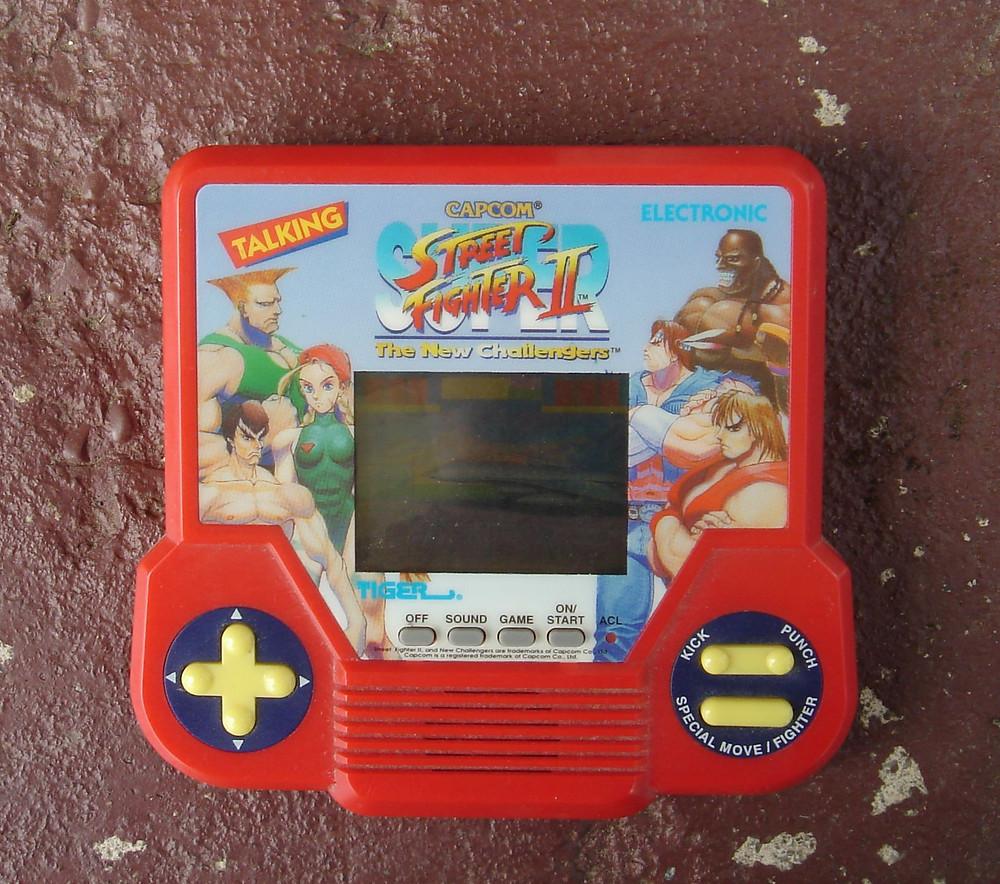 Tiger Capcom Super Street Fighter 2 handheld LCD videogame.