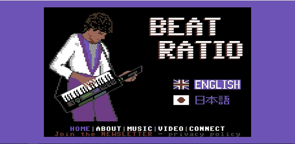 Beatratio.com homepage.