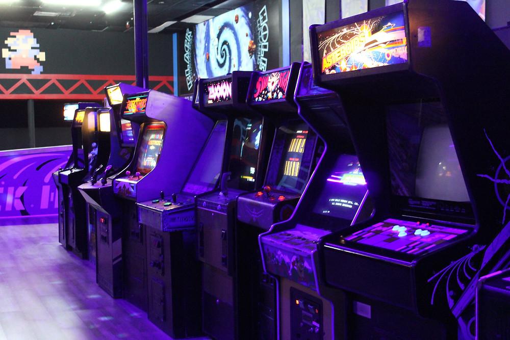 Arcade games at the Game Preserve NASA, Texas