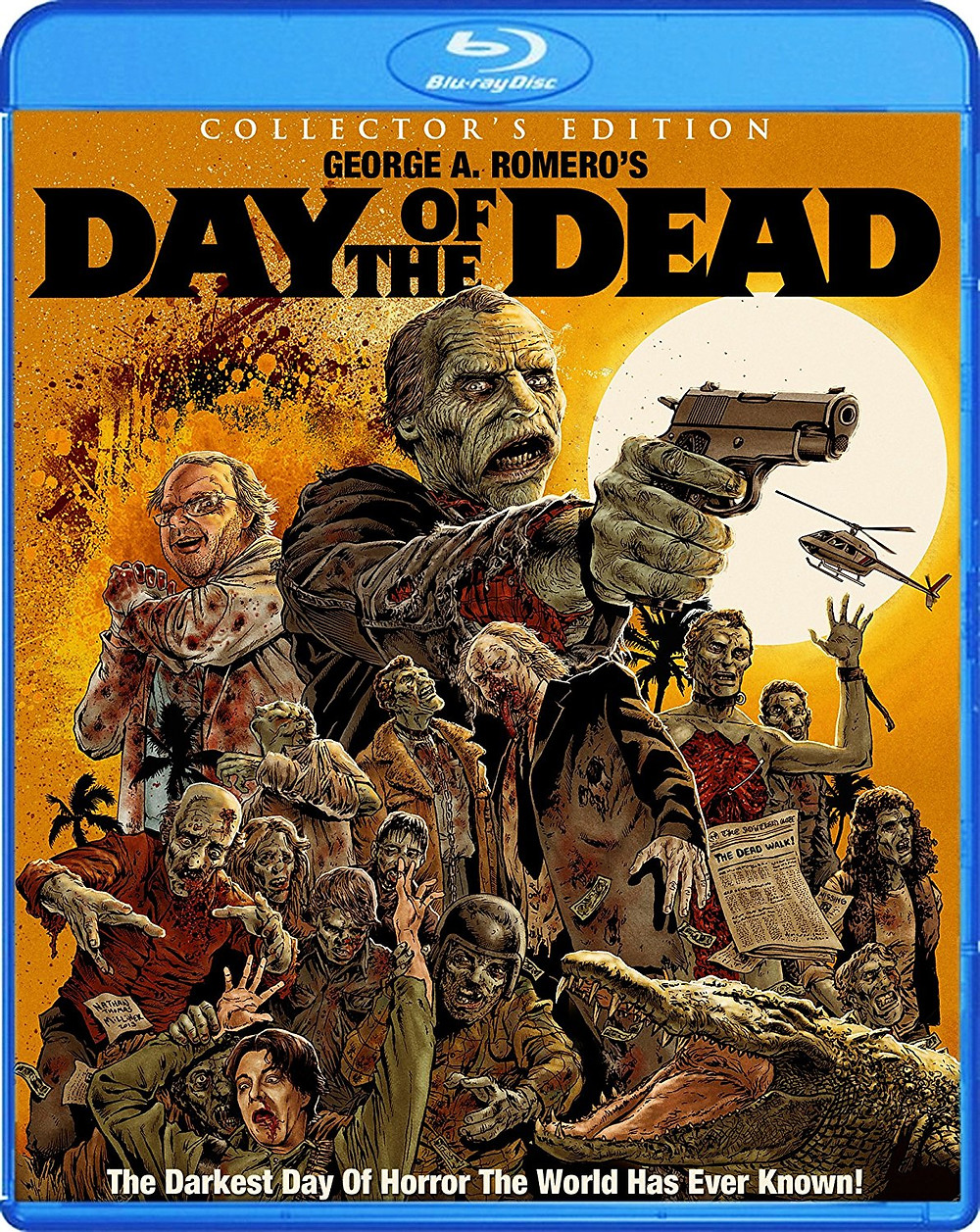 George A. Romero's Day of the Dead Blu-Ray cover.