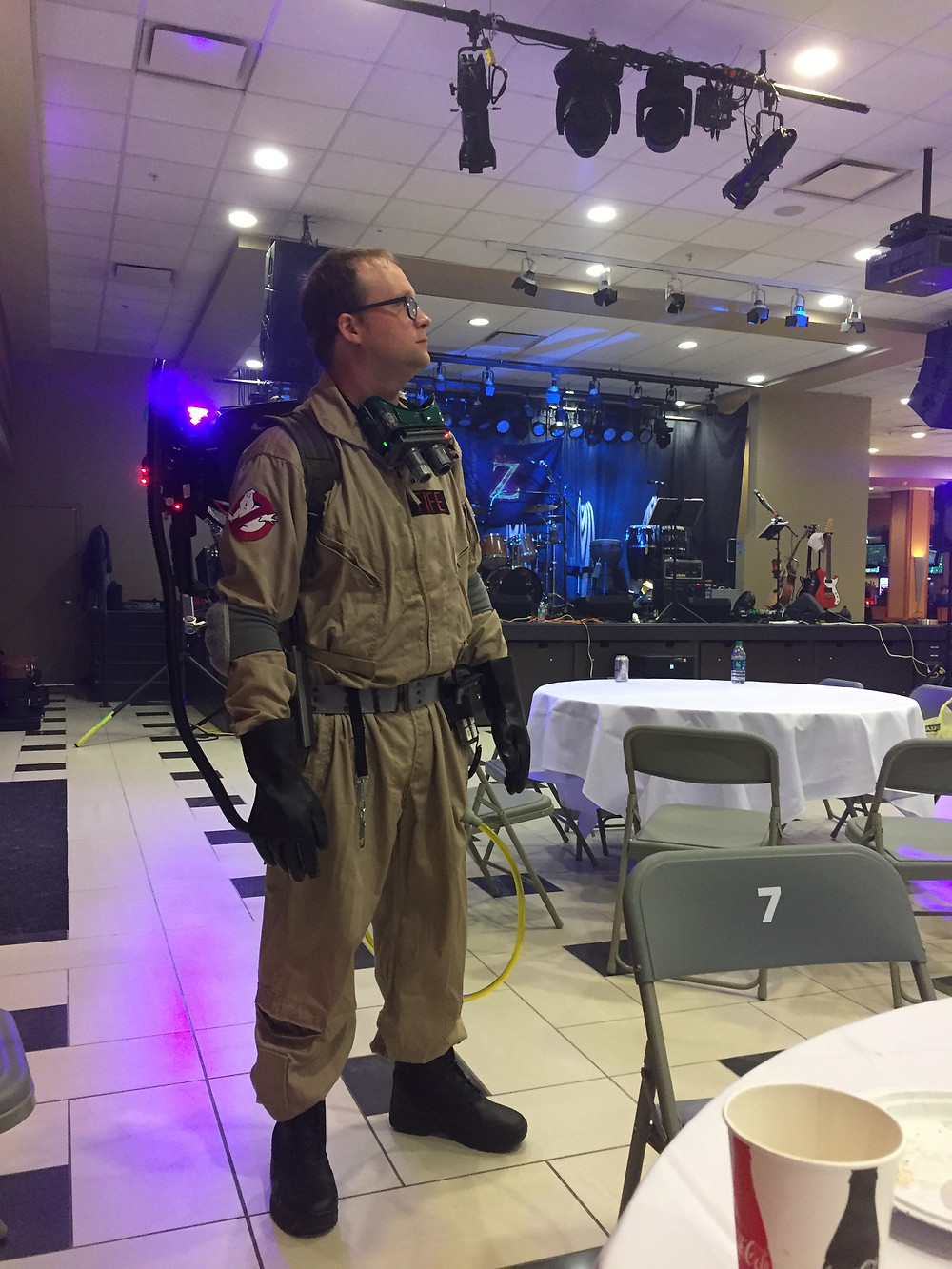 Ghostbuster cosplay at Tioga Downs Casino, Nichols, NY.
