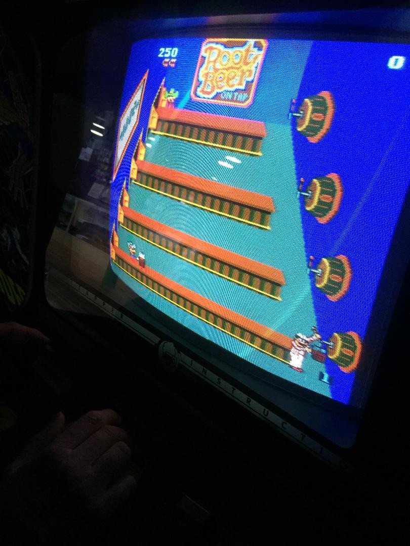 Bally Midway Root Beer Tapper arcade game.