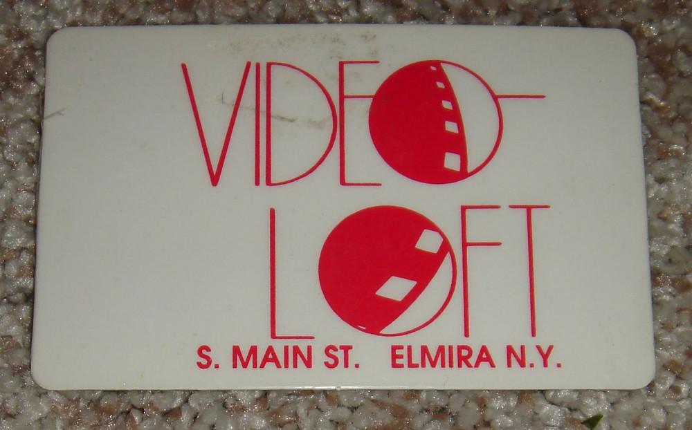Video store membership card.
