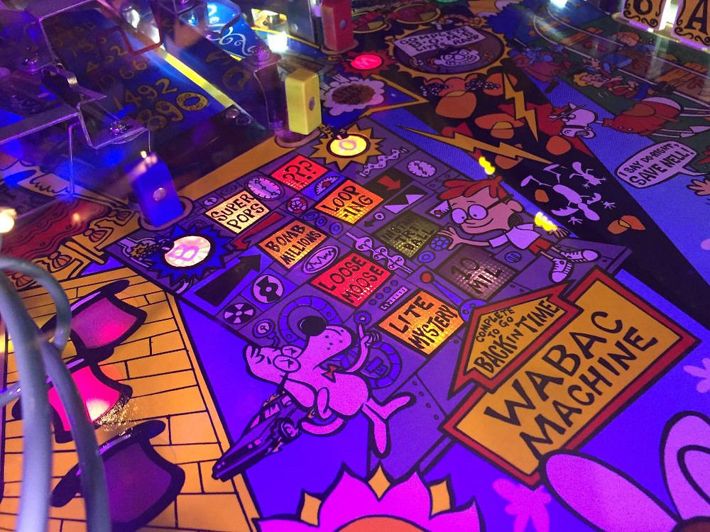 Data East Rocky and Bullwinkle pinball playfield