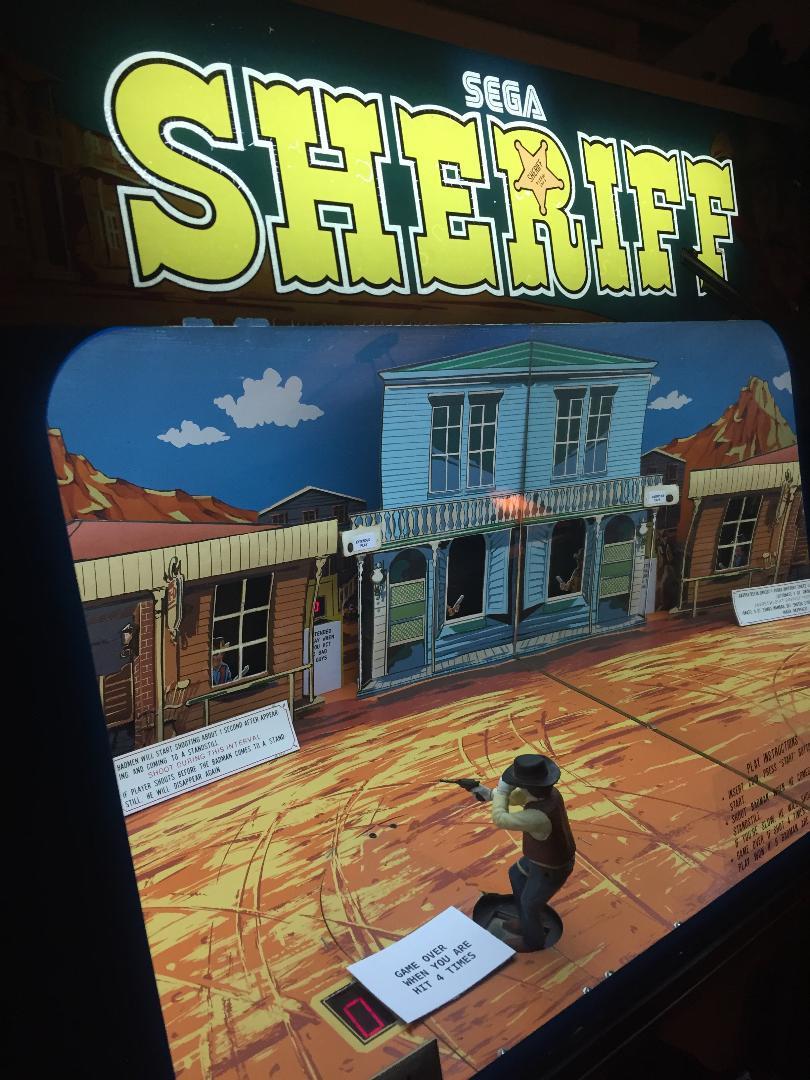 Sega Sheriff arcade cabinet