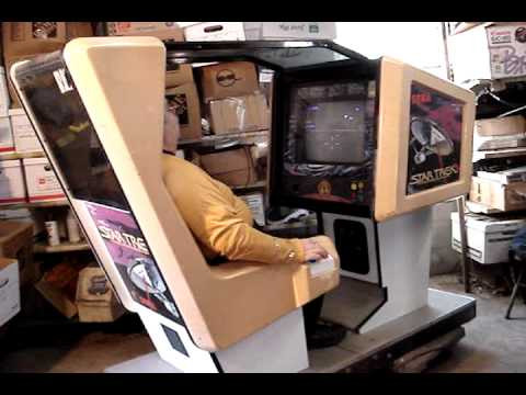 Sega Star Trek Captain's Chair arcade game.