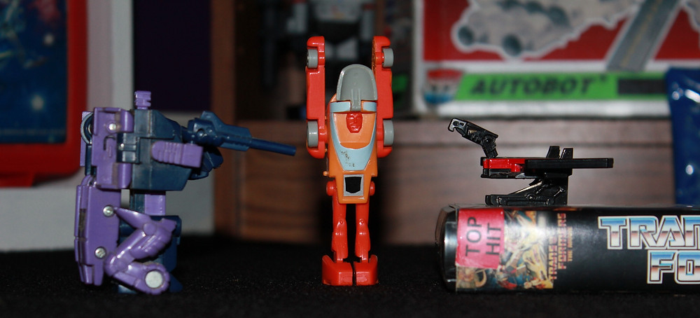 G1 Transformers Blot, Wheelie and Laserbeak.