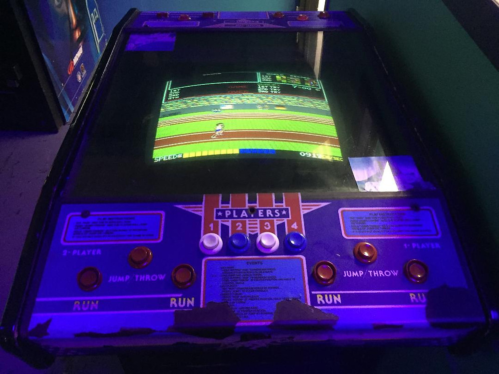 Konami Track and Field cocktail arcade game.