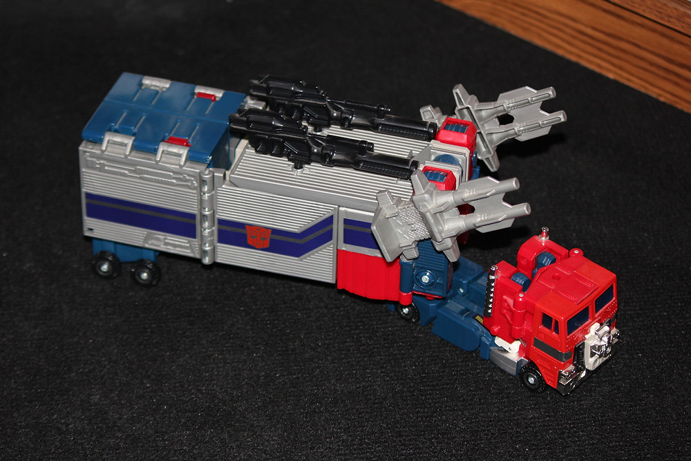 Powermaster Optimus Prime in truck mode.