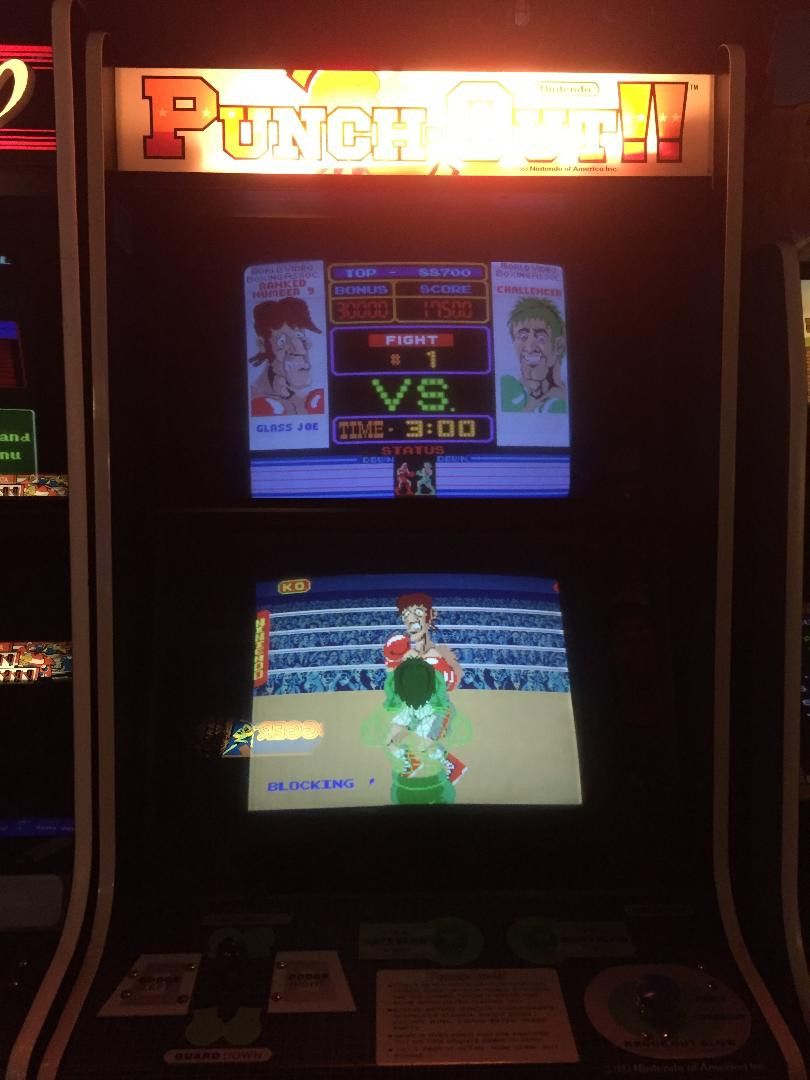 Nintendo Punch-Out!! arcade game.