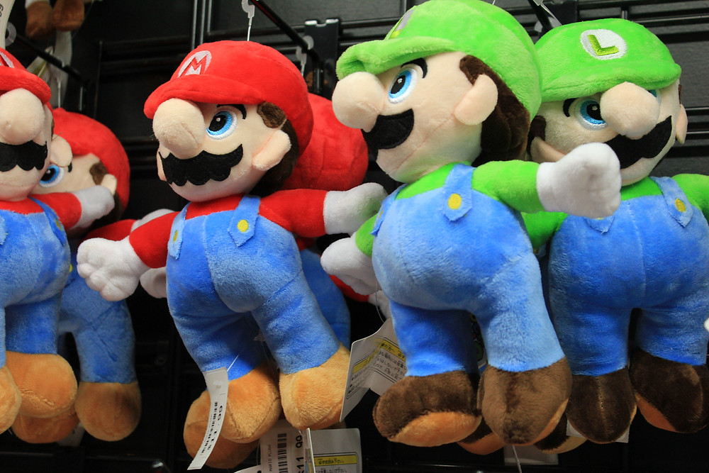Super Mario and Luigi plush