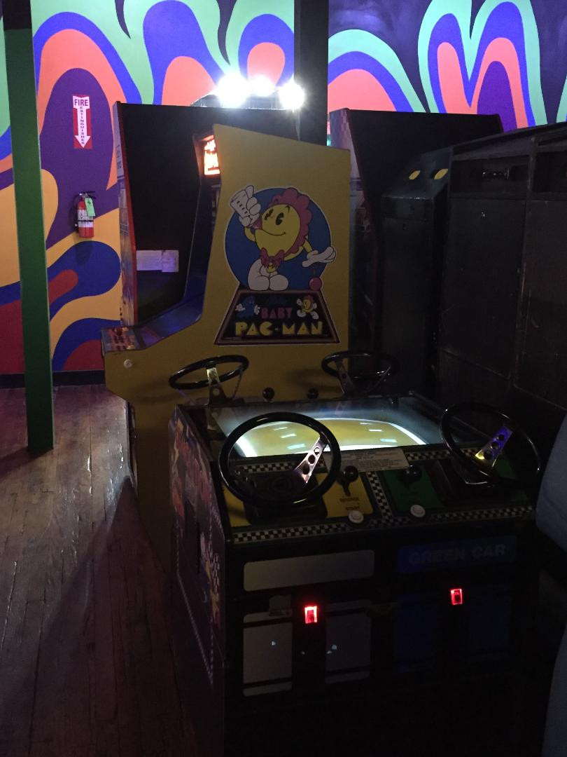 Baby Pac-Man arcade game.