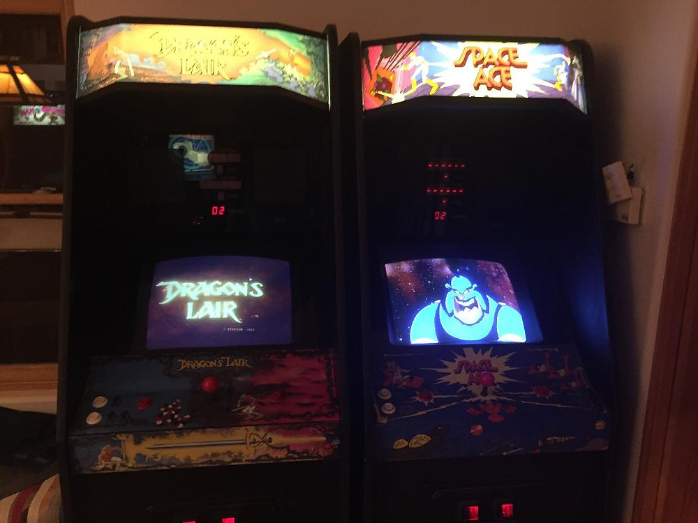 Dragon's Lair and Space Ace LaserDisc arcade games