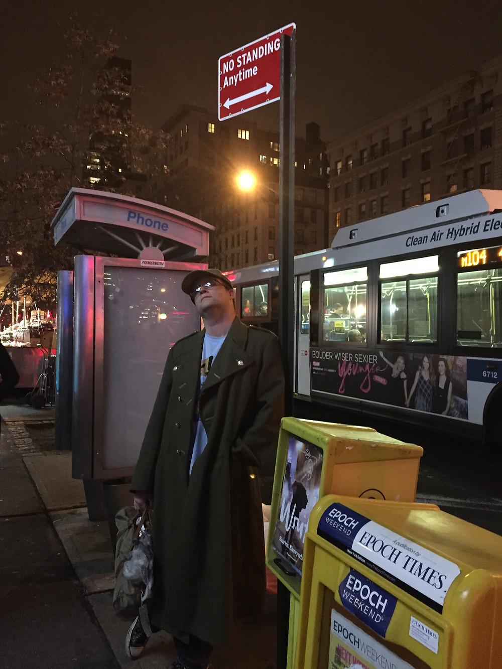 NYC payphone.
