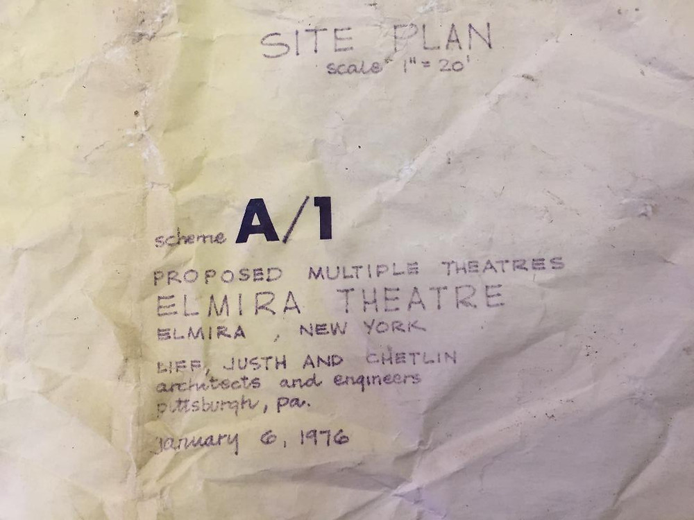 Elmira 1-2-3 theater blueprints.