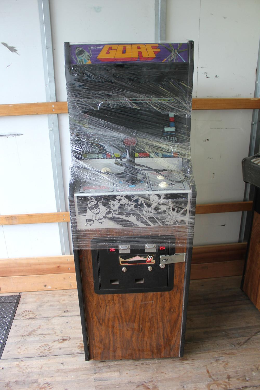 Midway Gorf cabaret arcade game cabinet