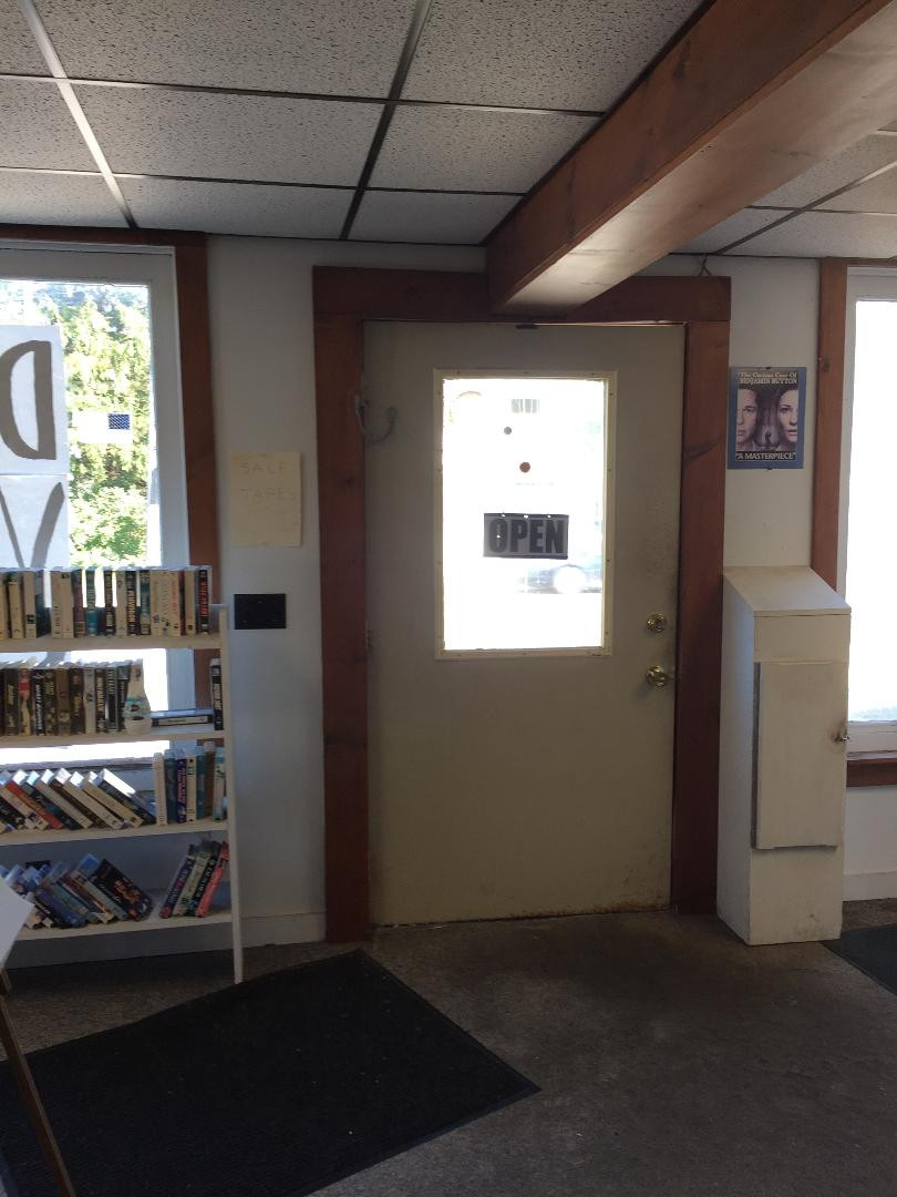 Video rental store drop box.