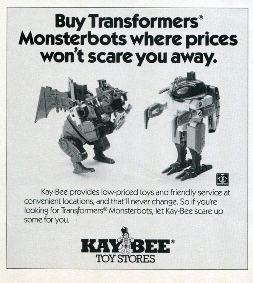 Kay Bee Toys G1 Transformers Monsterbot ad