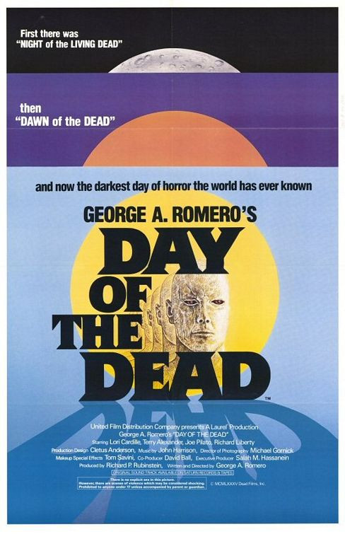 George A. Romero's Day of the Dead theatrical poster.