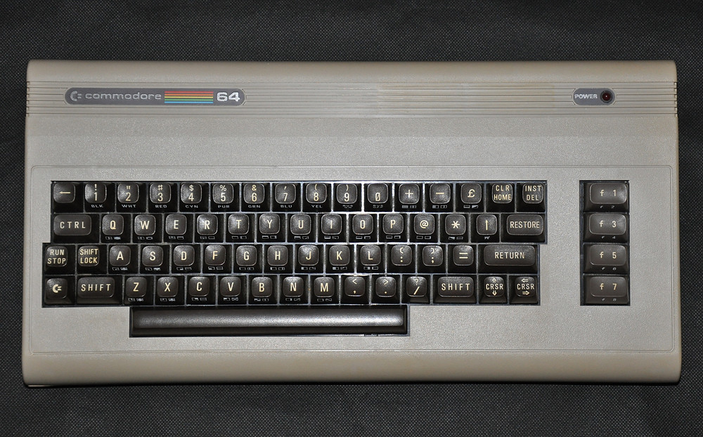 Commodore 64 vintage '80s computer.