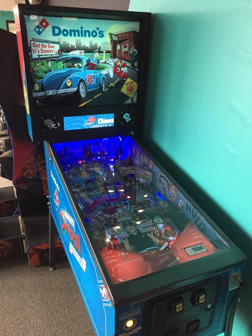 Domino's pinball machine by Spooky Pinball.