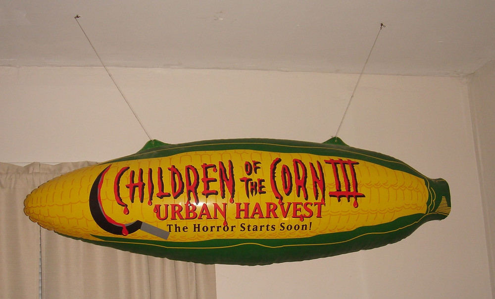 Children of the Corn III 3 Urban Harvest video store promotional corn balloon.