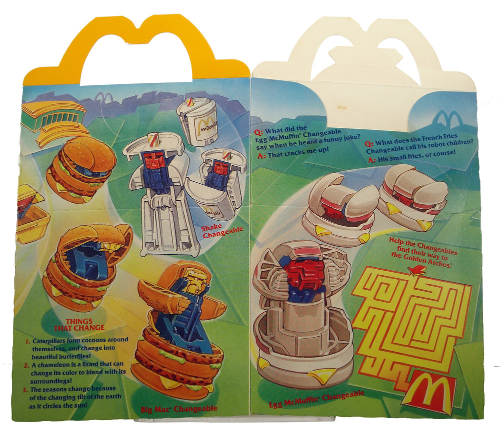 Ronald McDonald New Food Changeables Happy Meal box.