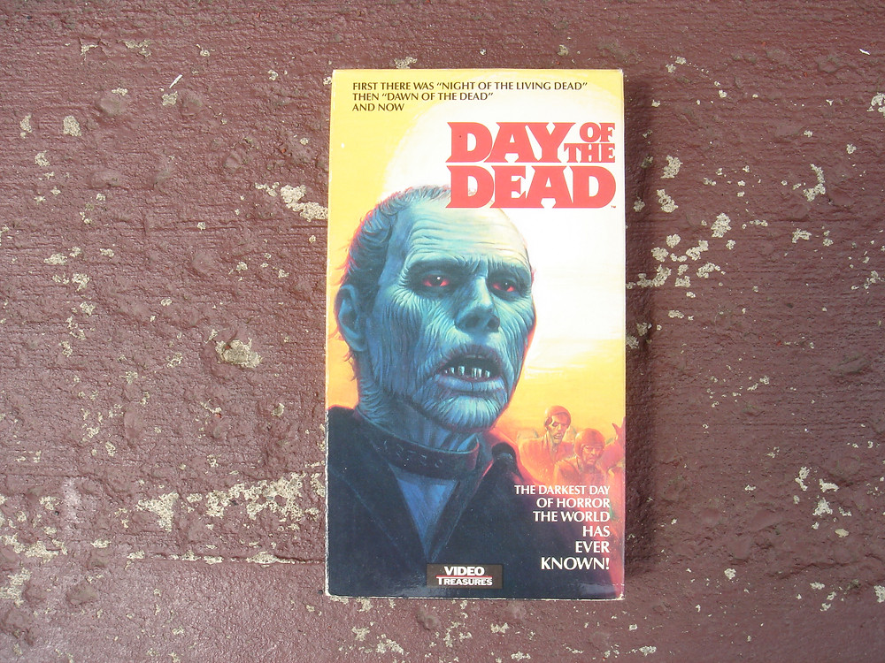 Video Treasures VHS copy of George A. Romero's Day of the Dead