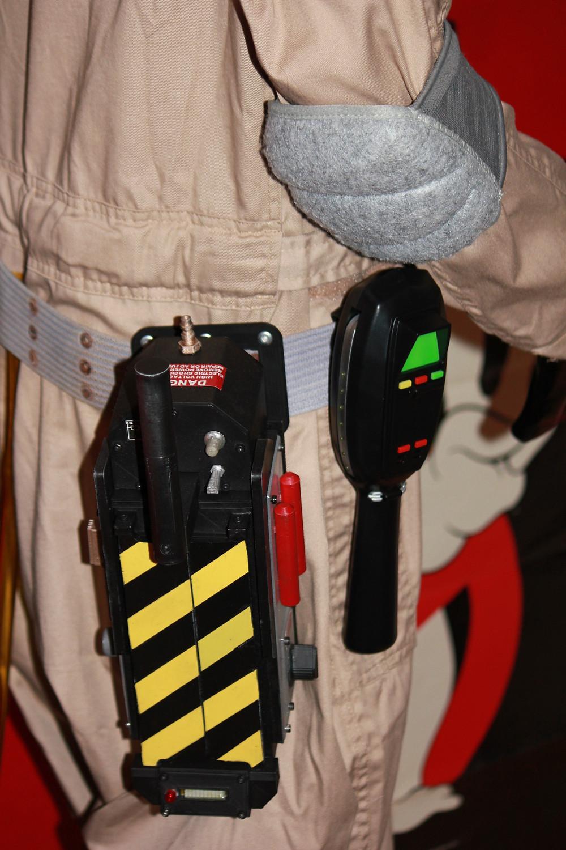 Spirit Halloween Ghostbusters PKE meter with Ghost Trap.