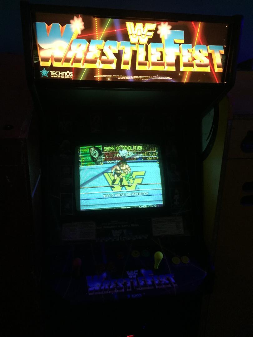 WWF WrestleFest arcade game by Technos.
