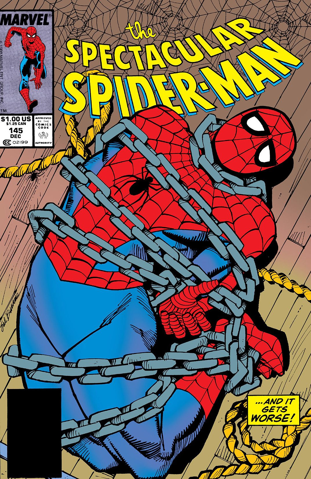 The Spectacular Spider-Man 145 cover.