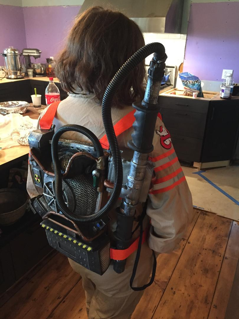 Ghostbusters 2016 reboot uniform and proton pack.