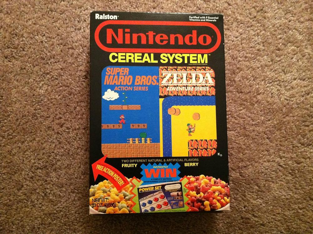 Ralston Nintendo Cereal System box.