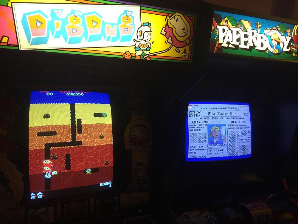 Atari Dig Dug and Paperboy arcade games