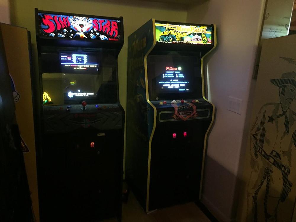 William's Sinistar and William's Moon Patrol arcade games.
