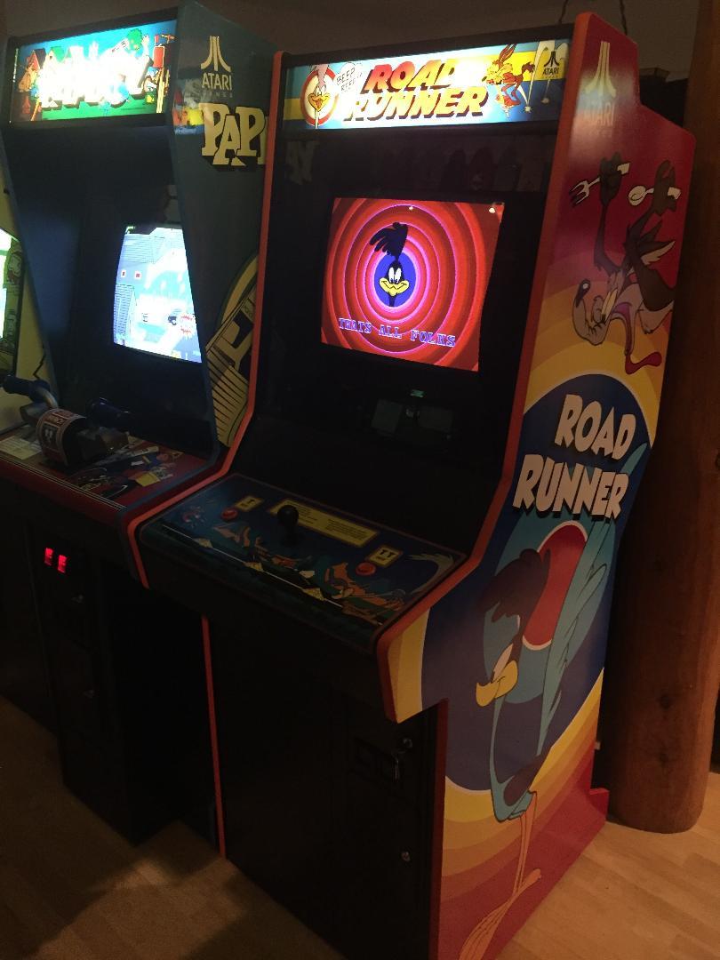 Atari Road Runner and Paperboy arcade games