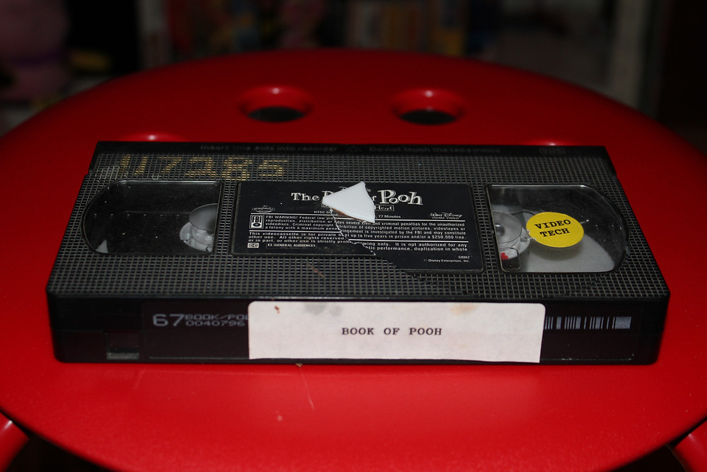 The Book of Pooh VHS ex-rental tape