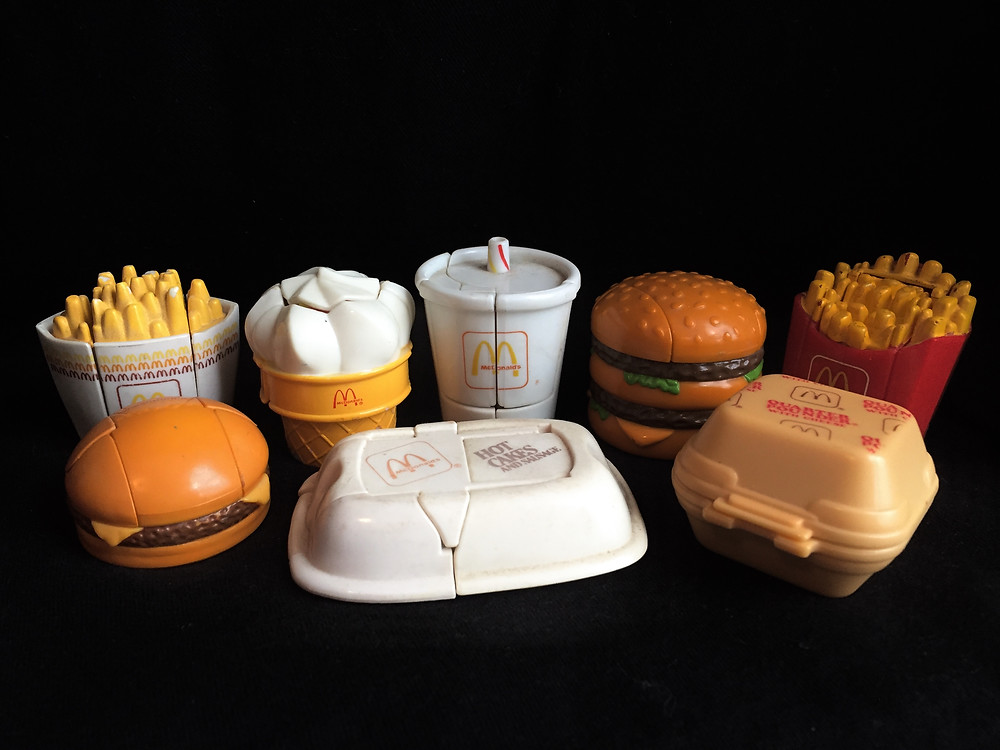 McDonald's New Food Changeables toys in food form.