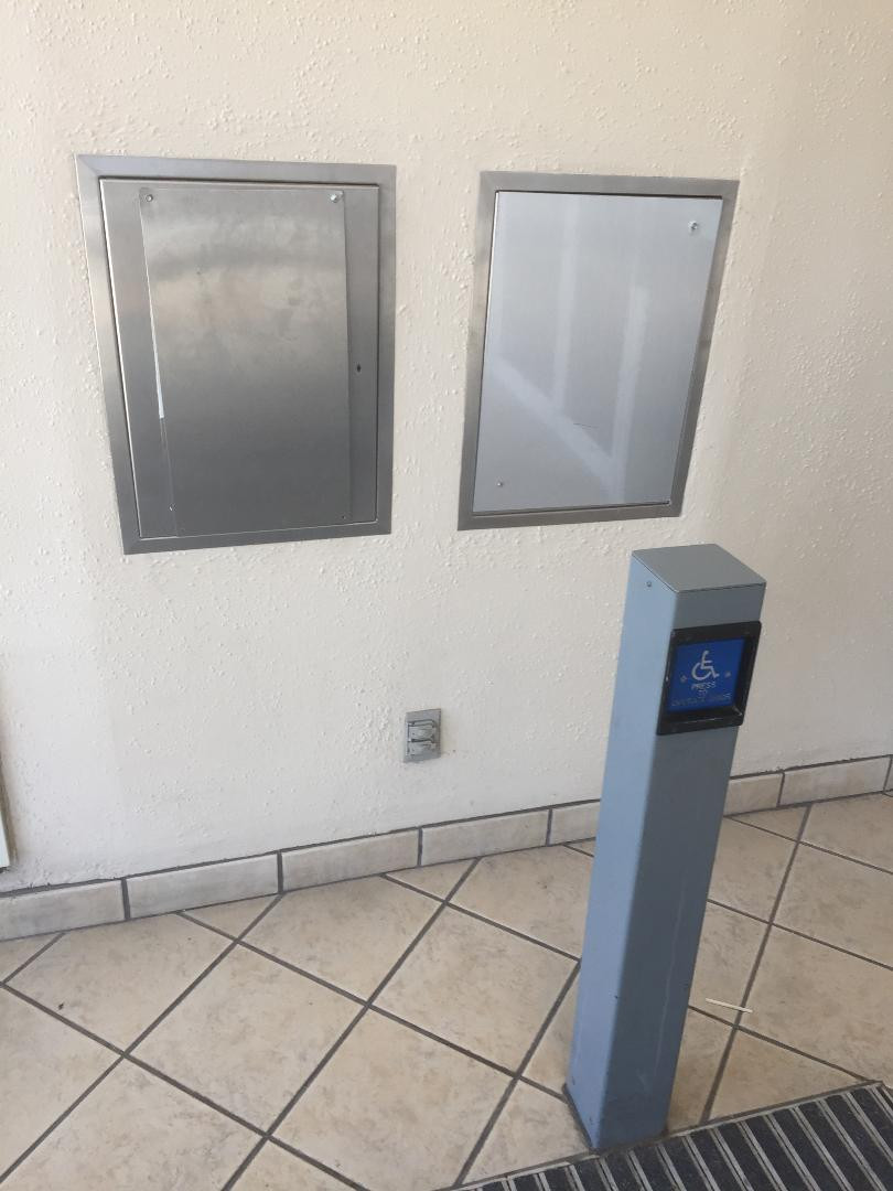 Former payphone location at a mall.