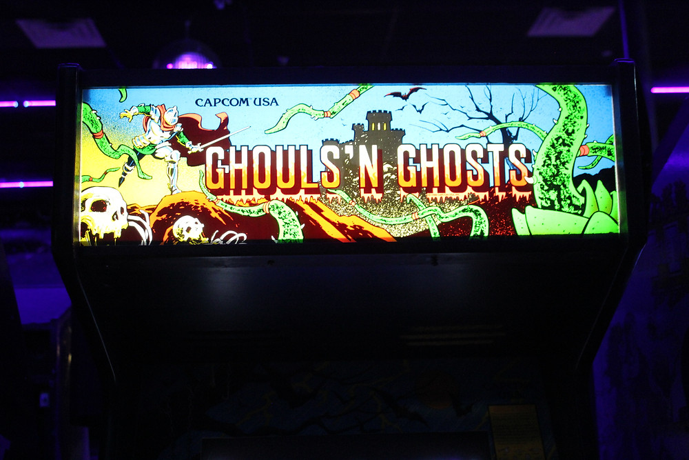 Capcom Ghouls 'N Ghosts cabinet at The Game Preserve arcade