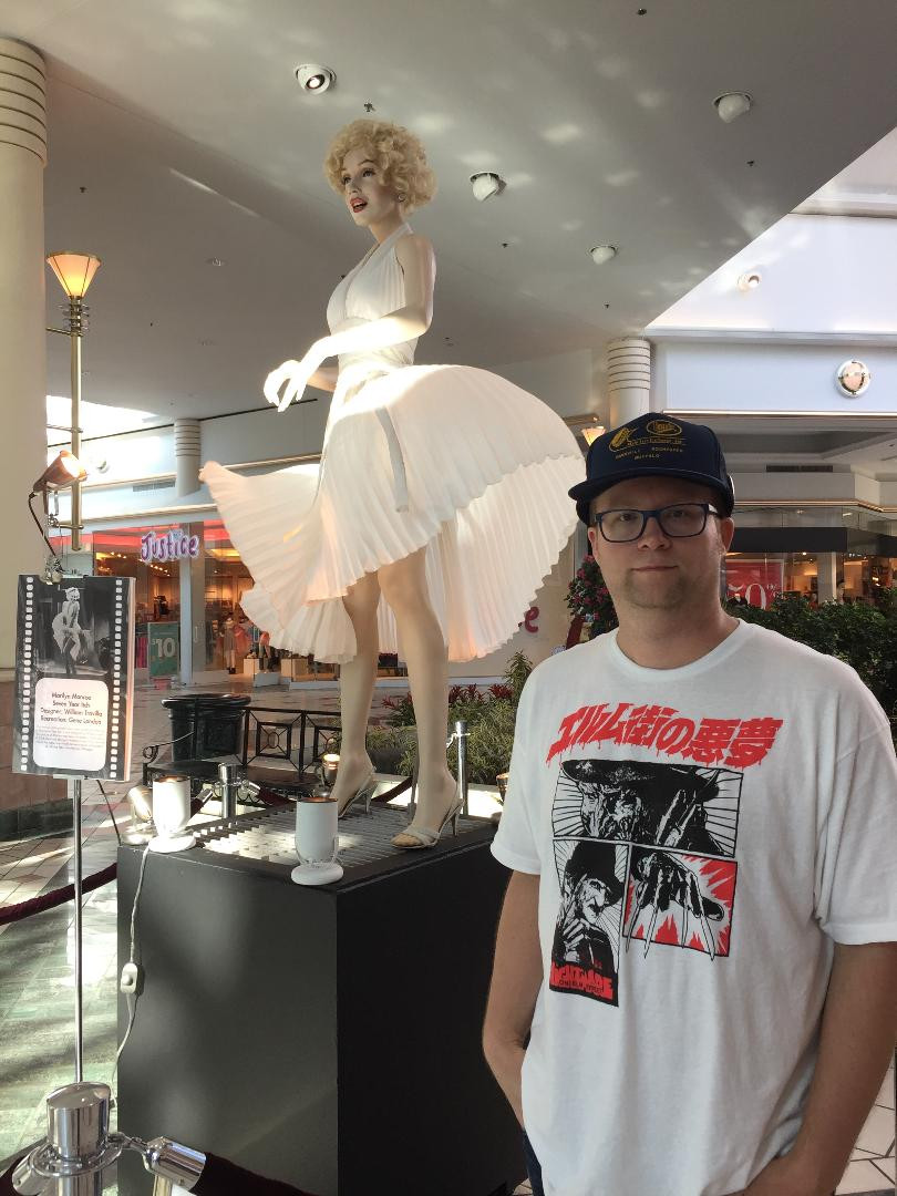 Marilyn Monroe's Seven Year Itch dress on display at Rochester, NY's Eastview Mall.