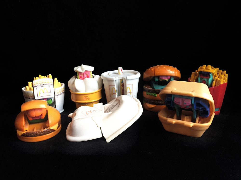 '80s Happy Meal New Food Changeables toys transforming into robots.