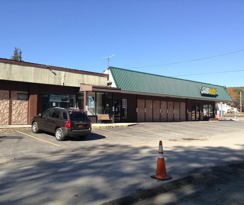 Subway restaurant, former video store