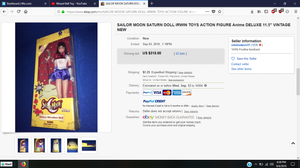 Irwin Sailor Moon eBay auction.