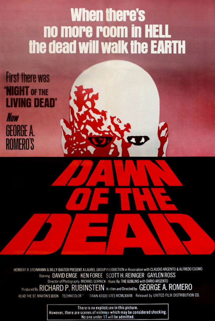Dawn of the Dead 1978 movie poster.