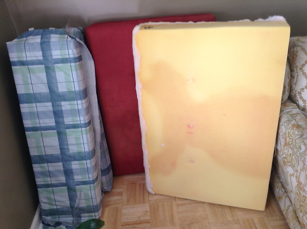 Reupholstering RV cushions
