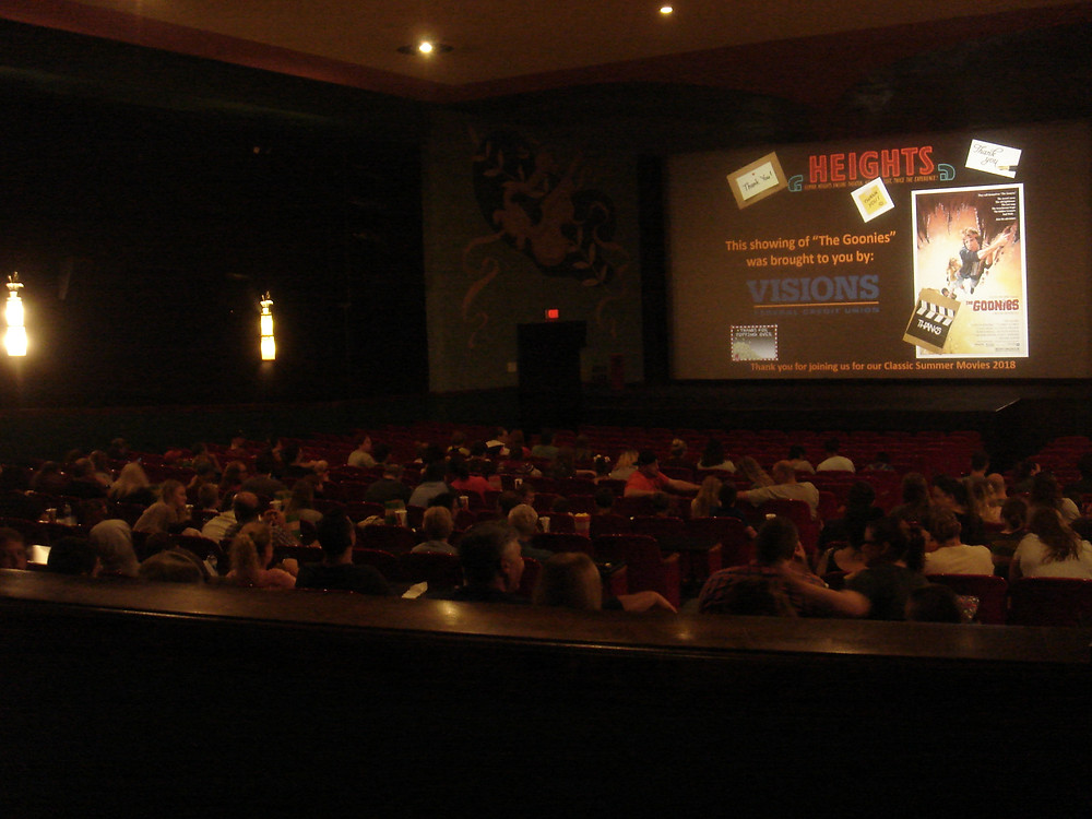 Theater audience at Steven Spielberg's The Goonies, Elmira Heights Theater, NY.