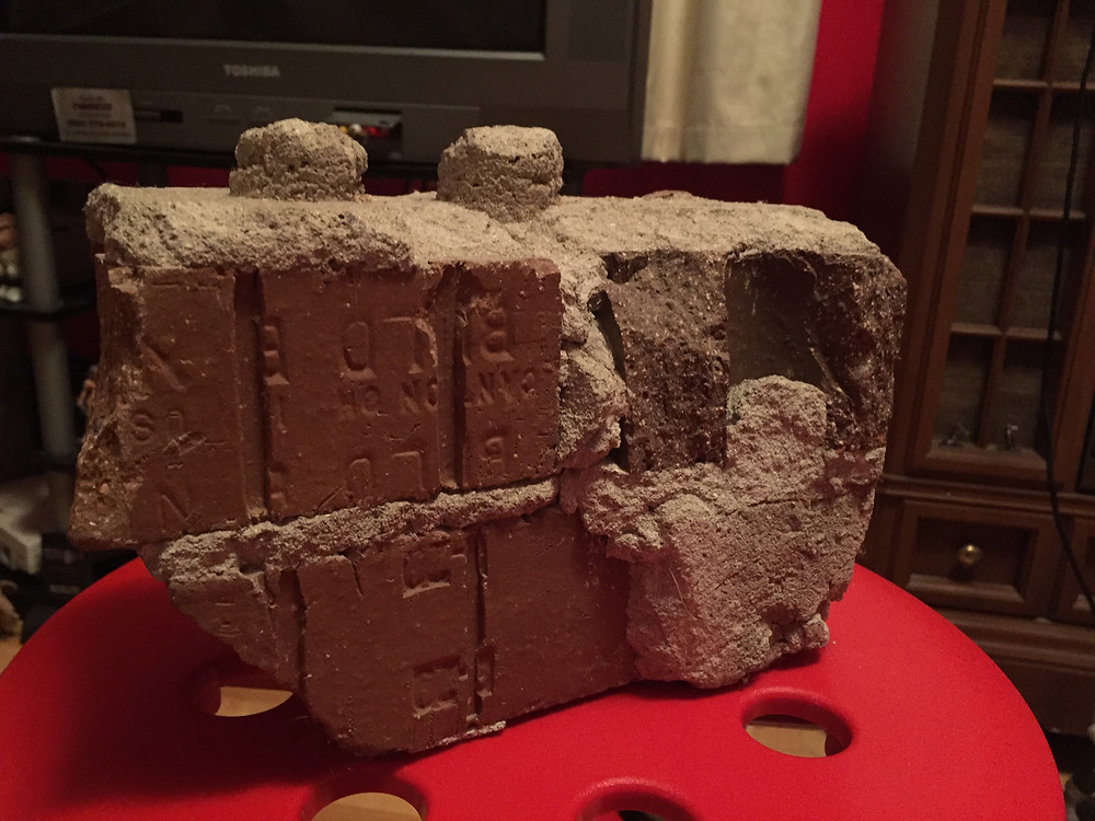 Brick from the Elmira 1-2-3 theater.
